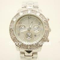 New style Mnichael watch, fashion luxury watch, 1pc/lot Free Shipping high quality unisex diamond watch--Sliver
