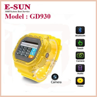 GD930 Sports Watch Mobile Phone with Camera, Bluetooth / FM / MSN / QQ Touch Screen Mobile phone, Single SIM Card free shipping