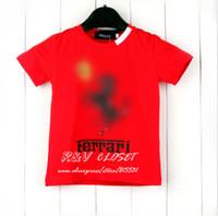 2014 summer kids clothing short sleeve t-shirt print flower horse letter o-neck Solid Color boy girl  fashion tops brand k9331