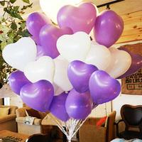 New 2014 Balloon romantic heart balloon married divisa 100 1 powder glue 1 pump classic toys party/wedding decoration