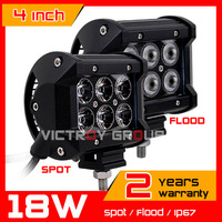 18w CREE  LED Work Light 10-30v IP67 adjustable brackets SUV Truck  ATV Fog Light Auto Offroad CREE LED Worklights New Arrival