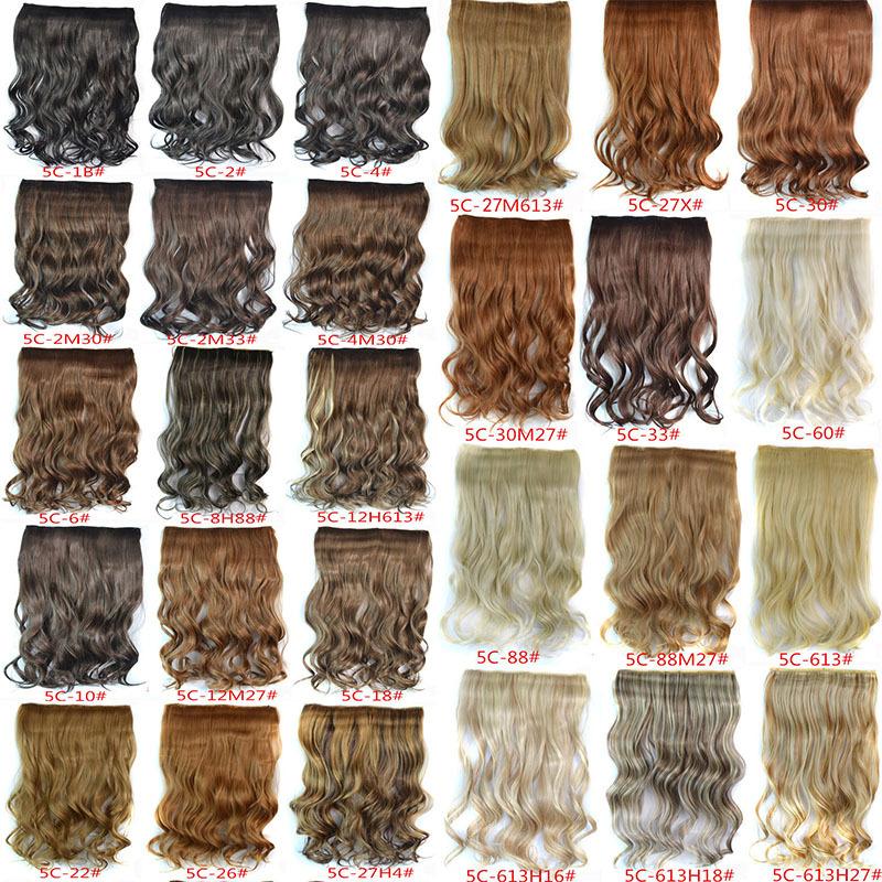 Donna 1pc+120g clip di ricci in estensione dei capelli 29 colori un pezzo completo per la testa ondulato lungo estensione dei capelli ricci capelli pettinatura