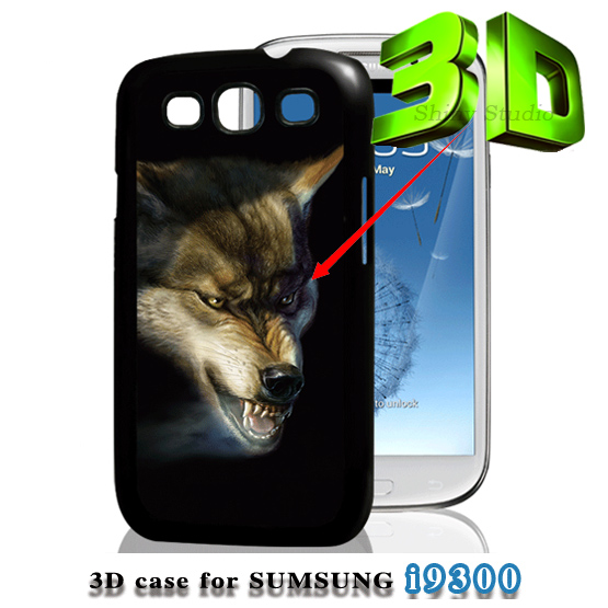 3D Design Dragon Wolf Animal Football Game Logo Eiffel Tower Flowers Hard Case for Samsung Galaxy S3 i9300 S 3 III phone cover(China (Mainland))
