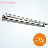 2pcs/lot Stainless steel 7w Waterproof Restroom Bathroom mirror light, bedroom headboard wall sconces lighting for home 47cm