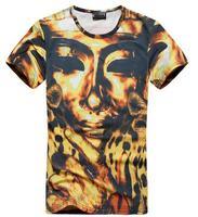 2014 Europe and American Poland Tide brand 3D Egyptian Pharaoh Chongfei round neck short sleeve t-shirt Free Shipping YA151184