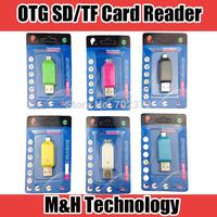 $ Buy 2 Get 3 $ Universal Micro usb OTG TF/SD Card Reader  Micro USB OTG adapter for Samsung  PC