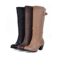 bota montaria 2014 medium-leg boots spring and autumn winter mujeres feminina boots single boots bota women cano longo shoes