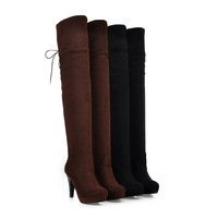 Bota couro botas femininas montaria over-the-knee cold-proof boots solid color all-match boots gaotong bota over knee