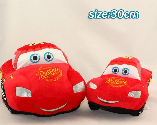 30CM car plush toys cartoon red car cute Stuffed doll 35cm 1 piece(China (Mainland))
