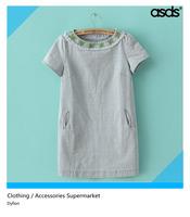 Free shipping fashion women 2014 new big size women's dresses leg jeans embroidered dress WQZ12818