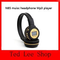 N85 Digital Wireless Headband headset Headphone FM SD Stero Music Player, LCD Display, Mp3 Player, SD Card Slot With Microphone