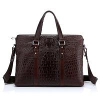Ophira Fashion 2014 New Men's Genuine Leather Briefcase,  alligator pattern handbag, masculino couro genuino pasta IF 246