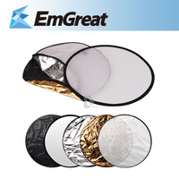 "Photo Reflector 5 in 1 Photography Studio Multi Photo Disc Collapsible Light Reflector 60cm 24"" Photography Reflector  P0012682"
