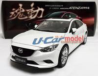 1pcs/a lot  1:18 Mazda Atenza 2014 Die-cast car model (White) New Arrival