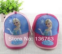 2014 New design 10pcs/lot princess fashion hats high quality cartoon Movie FROZEN baseball hat summer spring cotton cap