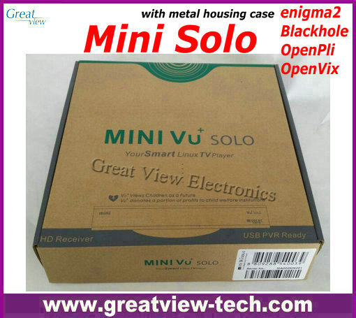 1pc Free Post mini VU+ Solo vu solo hd enigma2 Linux based DVB-S2 HD satellite receiver Mini Vu solo smart Linux TV player(China (Mainland))