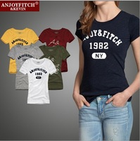 100% Cotton Women's T-shirts Short Sleeve Fashion Brand Design Female Tops Tees Slim Fit Summer T Shirts for Woman Ladies J1814
