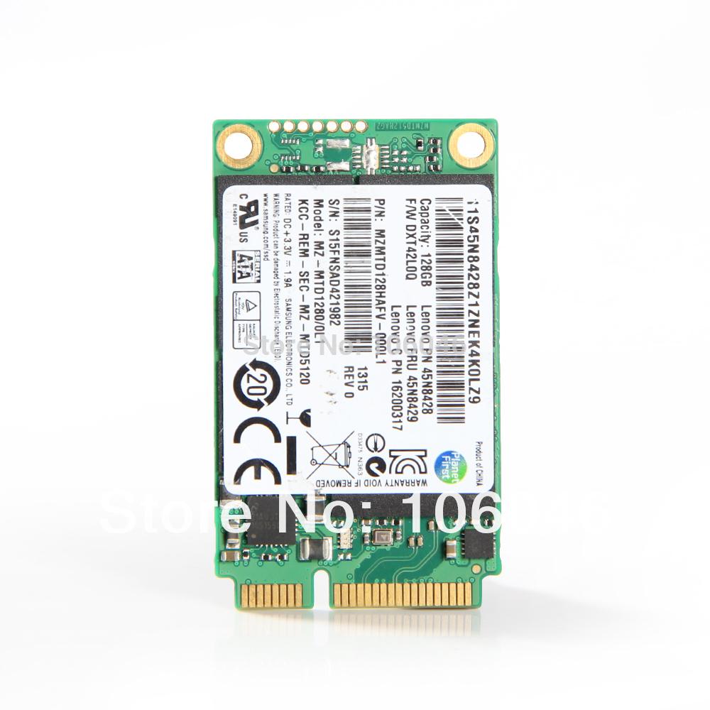 FOR Samsung MZMTD128HAFV-000L1 mSATA 128GB MINI PCI-E Internal Solid State Drive SSD FOR LENOVO 45N8428(China (Mainland))