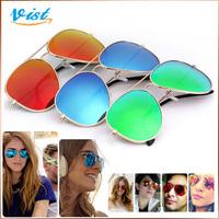 2014 New Summer Sunglasses Joint Multi-Coloured Polarized Unisex Frog Mirror Uv400 Retro Metal SunGlasses Wholesale