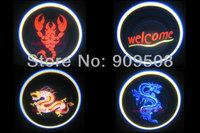 LOGO light For PORSCHE Boxster/911/Cayenne/ 911 Turbo Car door logo lamp car styling