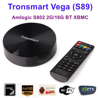 Tronsmart Vega S89 Amlogic S802 Quad Core 2GHz Android TV Box 2.4G/5GHz Dual Band WiFi 2G/16G Mali 450 GPU 4K*2K HDMI Bluetooth