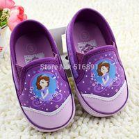 New Arrival 2014 Fairy tale sofia princess toddler shoes elegant purple children's soft sole casual shoes 0764