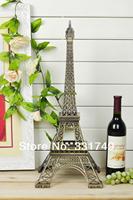 Fast Express(EMS) 60cm Height Restore Bronze Paris Eiffel Tower Statue Home Decoration Favors Big Metal Figurines