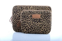 """12' 13.3' 14' 15.6"""" sexy leopard pattern Laptop computer Case Cover Sleeve canvas waterproof pouch Bag  For HP Lenvo macbook"""
