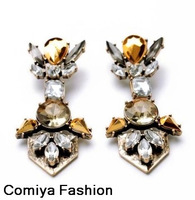 new 2014 Fashion brand vintage innovative items crystal dangle earrings for women brincos bijoux boucle d'oreille cc jewelry