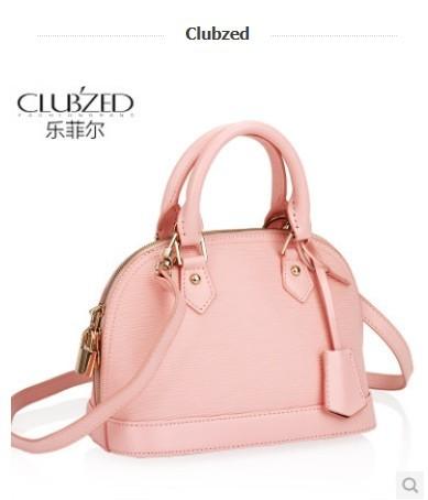 Clubzed LE.FEEL fashion genuine leather water ripple shell bag women's handbag toothpick bb bag leather bag female handbag(China (Mainland))