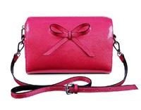 2014 Fashion   Patent  Leather  BoW Handbag, Clutch,Shoulder Bag Cross Bod ,Messenger bag  Women's   Wristlets Bags small Bag C3