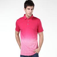 2014 Summer New Fashion Men Brand Turn-down Collar T Shirts Casual Sport Short Sleeve Tees High Quality