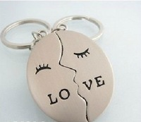 (Min order$10) Free Shipping! Classic lover couple key chain key ring key pendant smiley for you K-45