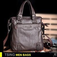 POLO messenger shoulder bag men cowhide briefcase leather fashion high quality handbag men bag