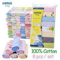 DANROL baby feeding  towel baby cotton towel  headband 8 pcs/pack