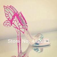 REAL PHOTO!New 2014 Butterfly Cut-out High Heels Sandals Ankle Strap Designer Shoes Drop Shipping