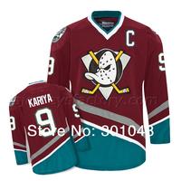 #9 kariya Mighty Ducks of Anaheim Ice Hockey Jerseys hockey  Brown
