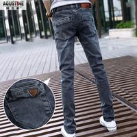 AGS mens jeans / Spring Summer style Korean Slim / zipper fashion s casual cotton pants feet