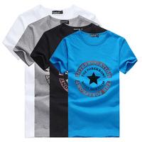 New arrivals men summer leisure V-neck short sleeve t shirts free shipping Black White M L XL XXL XXXL AT83