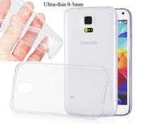 4Colors Ultra Thin Soft TPU Gel Skin Transparent Cover Case For Samsung Galaxy S5 S 5 SV I9600 Free Shipping