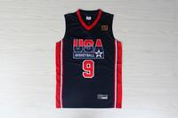wjx109 spring 2014 new  1992 Dream Team Jersey, 1992 USA Dream Team 9 Michael Jordan Basketball Jersey and Short, Free Shipping