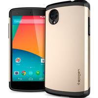 New Fashion!! SPIGEN SGP Case for LG Google Nexus 5 N5 E980 D820 D821 Slim Armor TPU+PC Back Cover Best Quality RCD03699