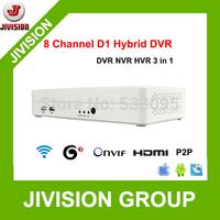 ONVIF mini NVR 8CH Hybrid DVR cloud 1080P HDMI H.264 8CH DVR P2P Cloud network video recorder 8 channel DVR HVR