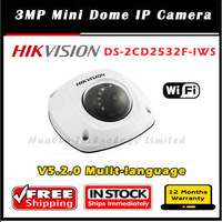 Hikvision 3MP Mini Dome Camera DS-2CD2532F-IWS w/Audio w/ Wi-Fi,Up to 10m IR Network IP camera Full HD1080p video with IP66