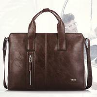 genuine leather handbags,new 2014 men's retro business bags,computer bag handbags,men's leather messenger bag,khaki, brown,black