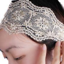 white flower headband promotion
