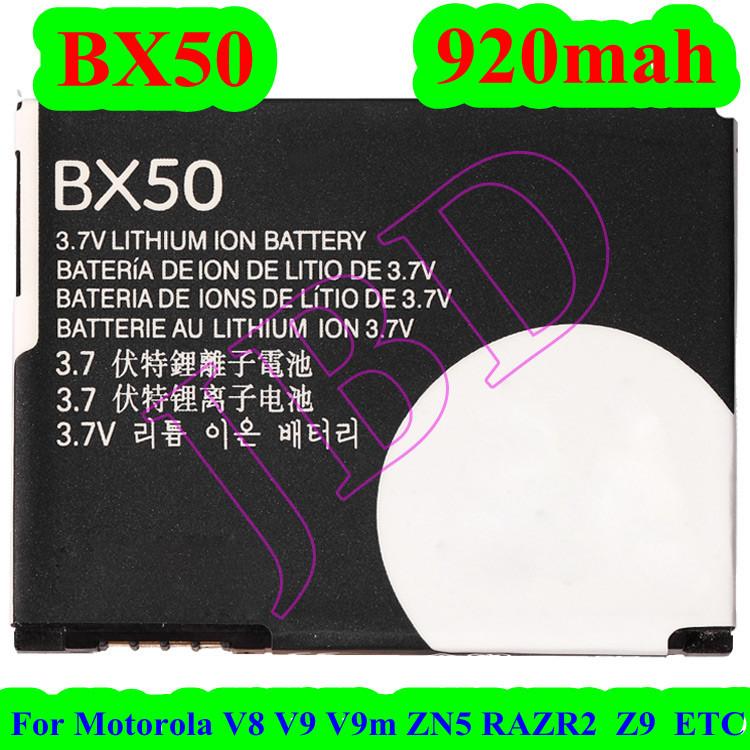 100pcs/lot high quality BX50 battery For Motorola V8 V9 V9m ZN5 RAZR2 Z9 Battery Bateria AKKU PIL DHL free(China (Mainland))