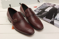 2014 New Black Brown Men Brand Design Formal Shoes Business Leather Shoes Pointed Toe Wedding Dress Oxford Plus size