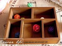 grocery wooden storage box wooden storage box crafts creative five grid