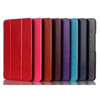 Smart case, High quality Three Folds Ultra-thin Intelligent Leather Case for ASUS MeMO Pad 8 ME581C,with Sleep/wake up Free Ship